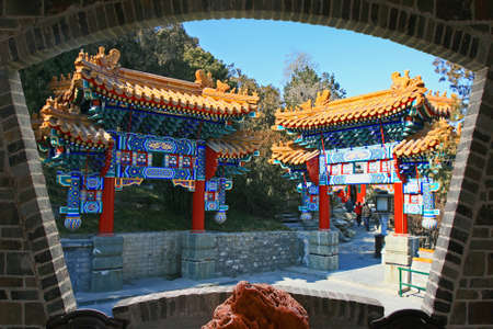 The top tourist spot - North-Lake Park in the center of Beijing 版權商用圖片 - 108846895