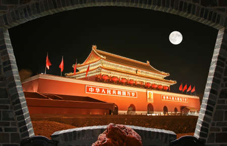 Tian-An-Men Square in center of Beijing
