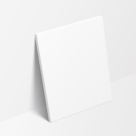 canvas: Vertical canvas standing on the floor near the wall. Vector illustration Illustration