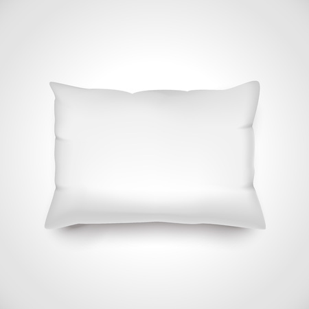 bolster: White vector pillow. Realistic blank template for your design.