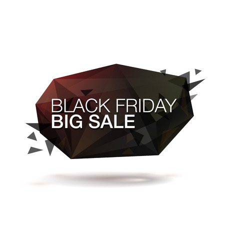 bomb price: Black friday vector illustration. Abstract trendy glass background for your banner. Illustration