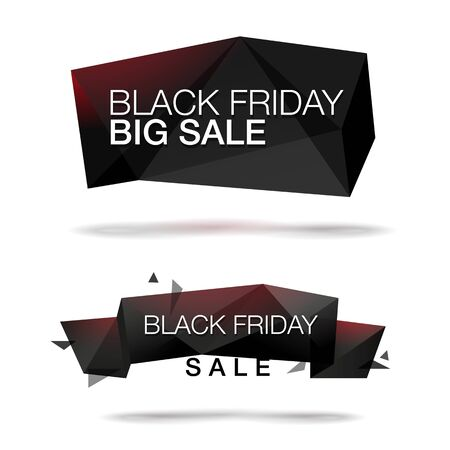 bomb price: Black Friday Big Sale banners set. Abstract trendy glass background for your banner. Illustration