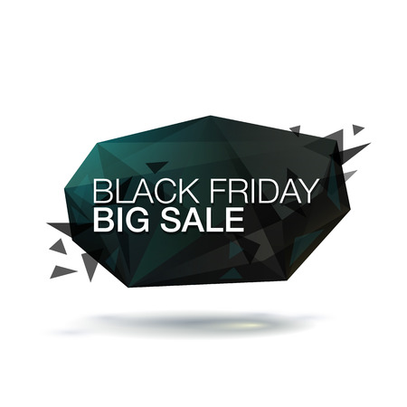 bomb price: Black Friday Big Sale vector illustration. Abstract trendy glass background for your banner.