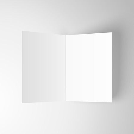 Blank invitation greetings card isolated on white background. Vector template. Illustration