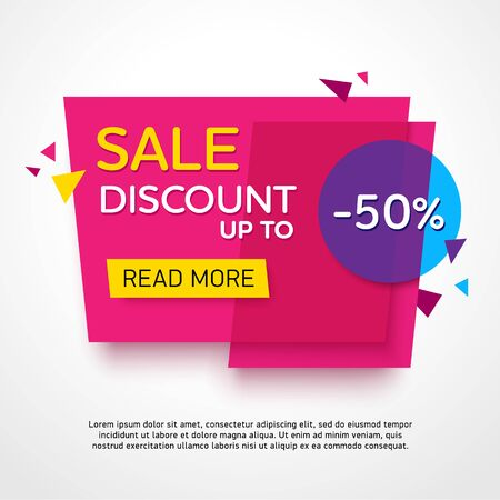 design vector: Ecommerce bright vector banner. Nice plastic cards in material design style. Transparent blue, purple and yellow paper.