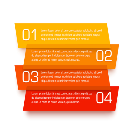 web site: Vector infographic template. Set of transparent plastic banners. Translucent material design with numbers and text placeholders. Realistic origami paper craft.