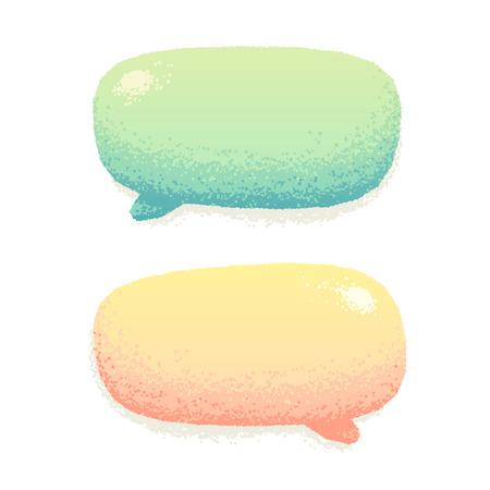Cute vector praten bubbels in de hand getekende stijl. Mooie krijt effect. Niet een auto spoor, eenvoudig van kleur te veranderen.