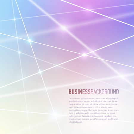 slideshow: Vector abstract blurry background with white connection lines. Business presentation concept. Technology of connections and communication. Illustration