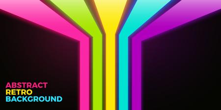 rayas de colores: Vector vivo fondo brillante con líneas de neón de colores Vectores