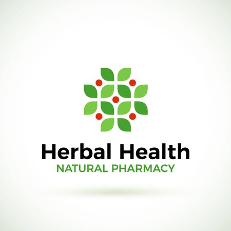 homeopathic: Natural pharmacy design template.
