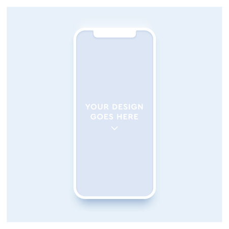 New smartphone mockup. Vector phone template.