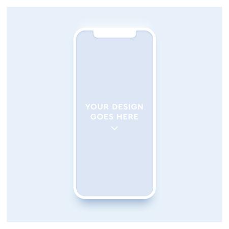 New smartphone mockup. Vector phone template.