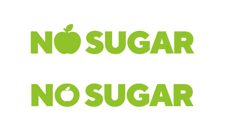 No sugar badge, vector illustration. Nutrition badge or logo. Ilustrace