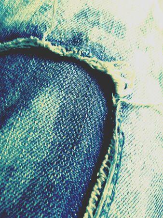 Denim fabric jeans fashion Stock Photo
