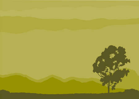 Lonely tree in surreal landscape Stock Vector - 3945160