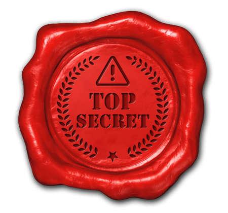 top secret: wax seal top secret Stock Photo
