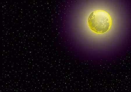 noche estrellada: luna y la noche estrellada Vectores