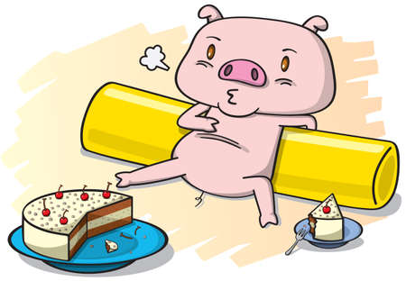 corral: pig and the cake