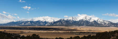 Landscape Panoramic of the Collegiate Mountain Range. The Scenic Beauty of Colorado