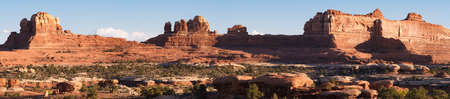 Panoramic of Wooden Shoe Arch in Canyonlands National Park, Utah