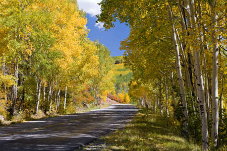 Beautiful Scenery of the Colorado Rocky Mountains Stock Photo