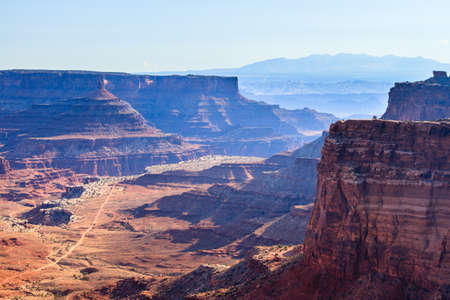 Red Rock Formations And Dramatic Landscapes Near Moab Utah 免版税图像