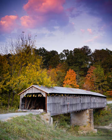 Beech Fork Bridge. Civil War Era Covered Bridge in Kentucky