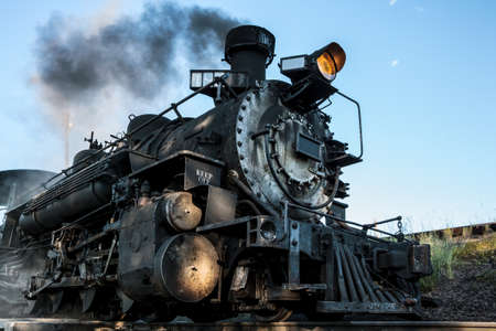 Vintage Railroad Steam Train With an Autumn Backdrop