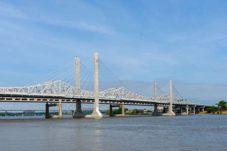View of Bridges on the Ohio River in Louisville, Kentucky