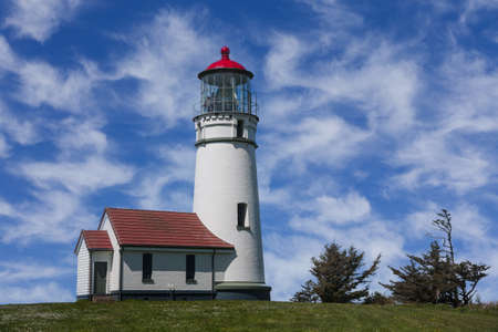Cape Blanco Lighthouse on the Pacific Coast of Oregon. Stok Fotoğraf