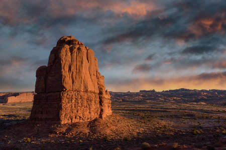 Travel and Tourism scenes from the Western United States. Red Rock Formations And Dramatic Landscapes Near Moab Utah.