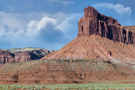 Red Rock Formations And Dramatic Landscapes Near Moab Utah Stok Fotoğraf