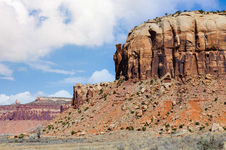 Red Rock Formations and Dramatic Scenic Beauty in Canyonlands National Park, Utah. Stok Fotoğraf