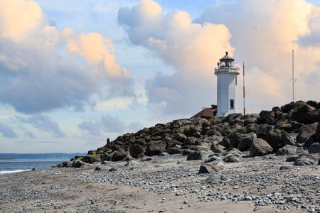 Point Wilson Lighthouse, Port Townsend, Washington. For Worden State Park Stok Fotoğraf