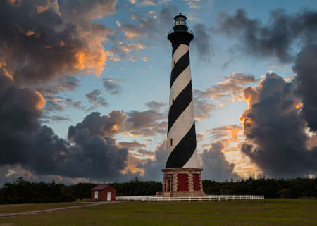 Lighthouses of the Atlantic coast of the United States. Cape Hatteras Lighthouse, North Carolina.