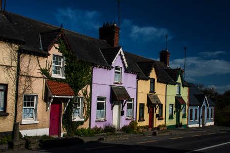 meath: colourful houses, Julianstown, Meath, Ireland