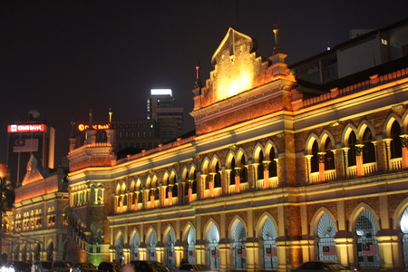 Night blur view of Bangunan Sultan Abdul Samad photo