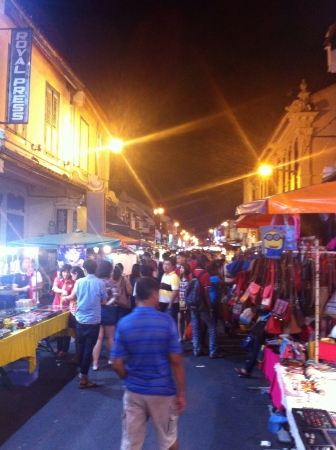melacca: Jonker street at night