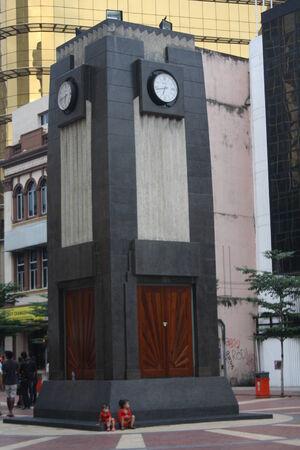 Clock Tower at Old Market Square  Lebuh Ampang