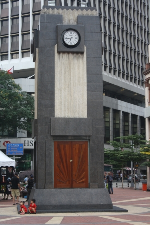 Front view of clock tower at old market square