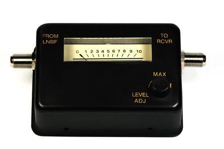 metering: Isolated satellite TV signal strength metering device