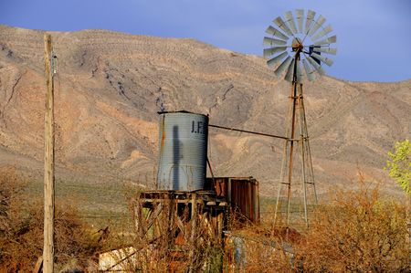ghost town: Ghost town of Goodsprings Nevada Stock Photo