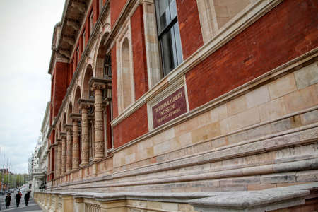 SOUTH KENSINGTON, LONDON, UK - MAY 07 2012: Exterior of the Henry Cole wing of the Victoria and Albert museum Editorial