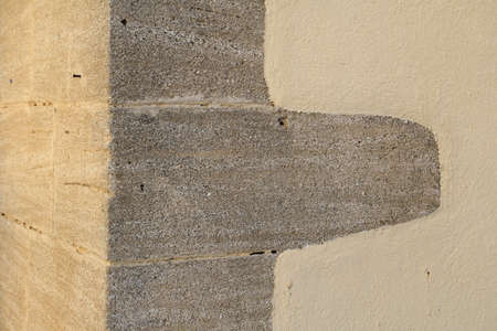 Abstract stone corner of a building