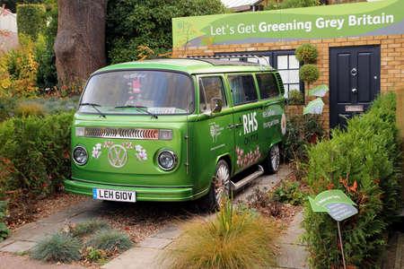 vw: Wisley, Surrey, UK - October 22nd 2016: Royal Horticultural Society promotional VW van