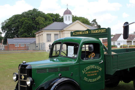 Sandhurst, UK - June 18 2017: 1949 Bedford MLD truck in the livery of A.C.Devine and Son