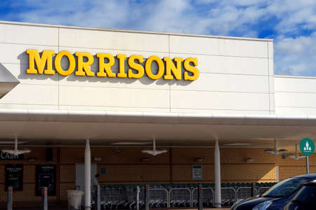Basingstoke, UK - March 9th 2017: Exterior of the Morrisons supermarket. Morrisons is a leading UK food and general retailer