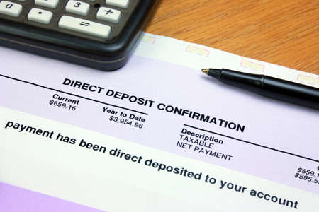 bank statement: Direct Deposit Confirmation