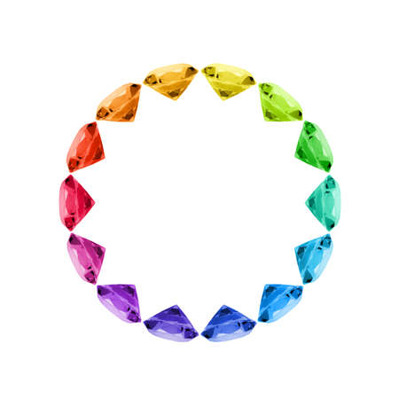 Colorful Diamond Circle