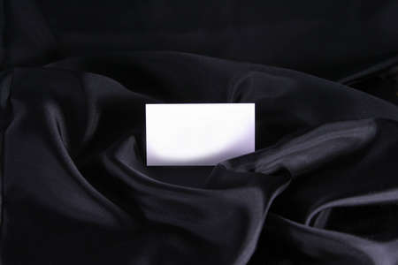 Blank Business Card on Black Satin
